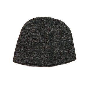 Mens Beanie Hat OS Stretch Grey Gray Black